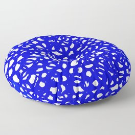 Electric Blue Abstract Floor Pillow