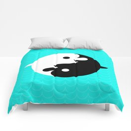 Yin Yang Dolphins Comforters