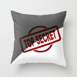 Top Secret Half Covered Ink Stamp Throw Pillow