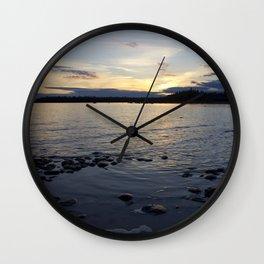 Late Sunset Wall Clock