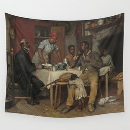 Richard Norris Brooke A Pastoral Visit 1881 Painting Wall Tapestry