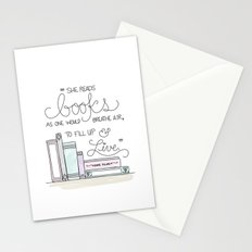 She Reads Books Stationery Cards