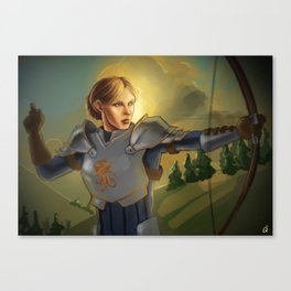 The Queen will conquer Canvas Print