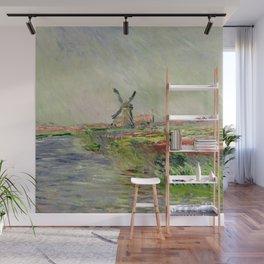 "Claude Monet ""Tulip field in Holland (Champ de tulipes en Hollande)"" Wall Mural"