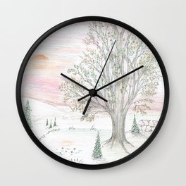 Dawn's Light Over Life Wall Clock