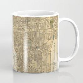 Vintage Map of Cleveland OH (1894) Coffee Mug