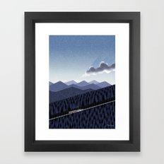 Mountain road at dusk Framed Art Print