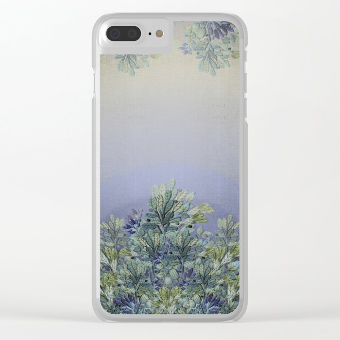 """Horizon of lavender"" Clear iPhone Case"