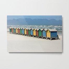 southafrica ... muizenberg beach huts II Metal Print