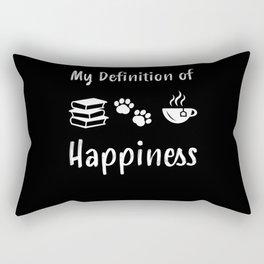 Books + Dog + Tea = Happiness | Gift Rectangular Pillow