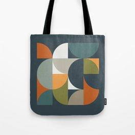 Mid Century Geometric 12/2 Tote Bag