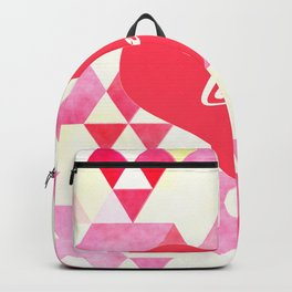 Valentine's Diamond Pattern with Love Heart Backpack