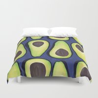 avocado Duvet Covers featuring Avocado by Nastya Shch