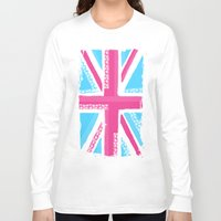 union jack Long Sleeve T-shirts featuring Union Jack Fashion by Berberism