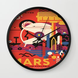 Mars Tour : Space Galaxy Wall Clock