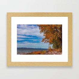 Lake Champlain Colors Framed Art Print