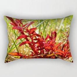 Fire Red Rectangular Pillow