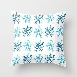Simply Snowflakes Throw Pillow