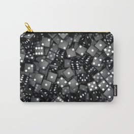 Black dice Carry-All Pouch