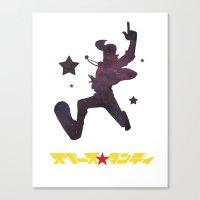 space dandy Canvas Prints featuring Dandy by Dean Dauzart
