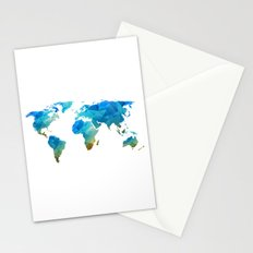 CONTINENTS Stationery Cards