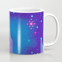 8bit Mugs featuring Indigo Nebula (8bit) by Sarajea