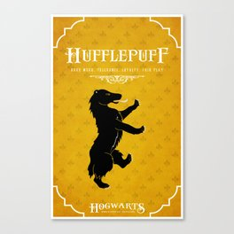 Hufflepuff House Poster Canvas Print