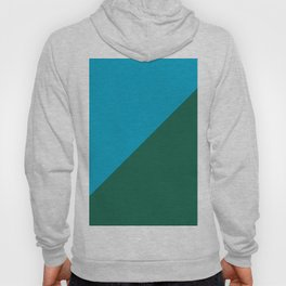 Light Blue & Army Green - 2 color oblique Hoody