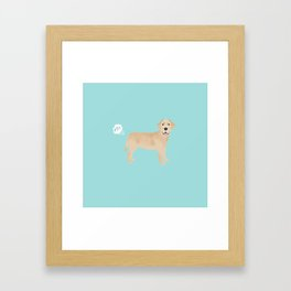 Yellow Lab funny fart dog breed gifts labrador retrievers Framed Art Print