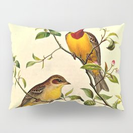 Red-Headed Bunting Pillow Sham