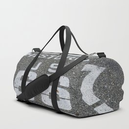 Route 66 sign on the road Duffle Bag