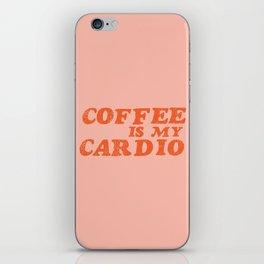 Coffee is my Cardio iPhone Skin