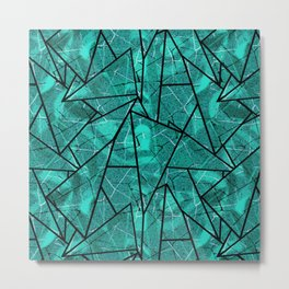 abstract geometric pattern. Metal Print