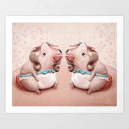 Pigly Twins Art Print
