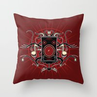 sound Throw Pillows featuring Sound by Carly Curgenven