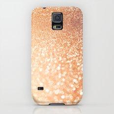 The late Sunset- Rosegold Gold glitter pattern Slim Case Galaxy S5