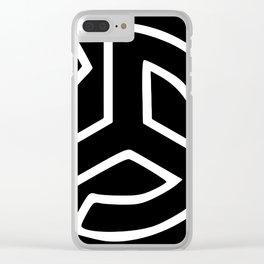 Triskelion Martial Heathen symbols Clear iPhone Case