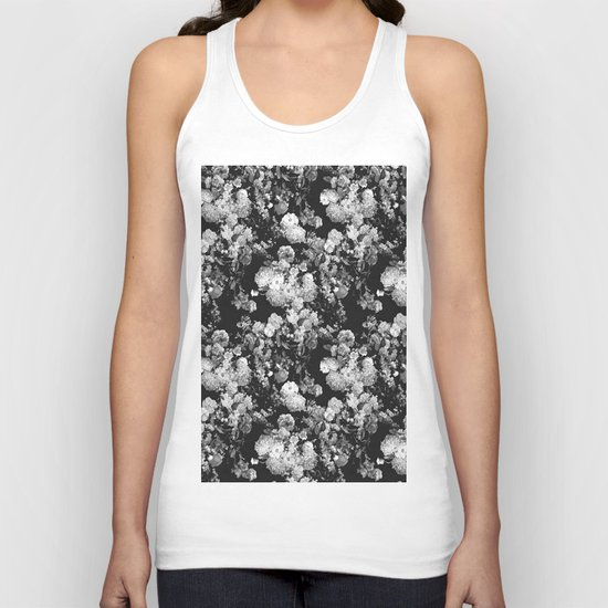 Through The Flowers // Floral Collage Unisex Tank Top