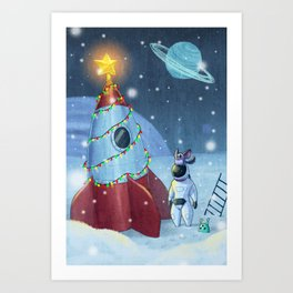 Maff Maff - Rocket Tree Art Print