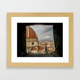 Climb up the Duomo. Florence, Italy. Framed Art Print