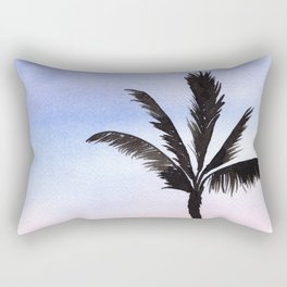 Palm Trees with Soft Sunset Watercolor Painting Rectangular Pillow