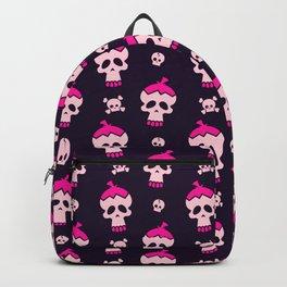 Pink Skulls Pattern Backpack