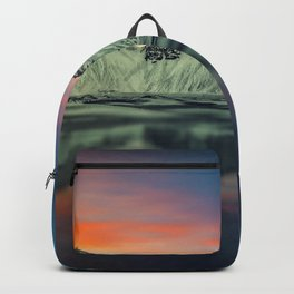 Beautiful Sunset At Vestrahorn Mountains Stokksnes Iceland Ultra HD Backpack