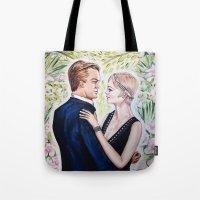 gatsby Tote Bags featuring GATSBY - DAISY by Sam Parigi