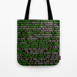 Fitter. Happier. More Productive. Tote Bag