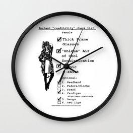 Instant Credibility Check List: Female Wall Clock