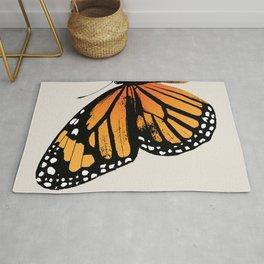 Monarch Butterfly | Left Butterfly Wing | Vintage Butterflies | Rug