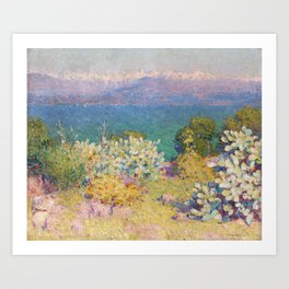 John Peter Russell - In the morning, Alpes Maritimes from Antibes Art Print