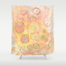 Soft color pops Shower Curtain