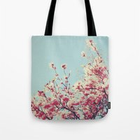 Retro Blossoms Tote Bag